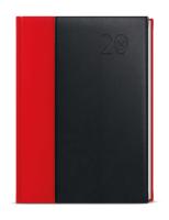 Denní diář - David - kombi - A5 - červeno-černá