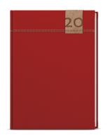 Denní diář - David - denim - A5 - červená