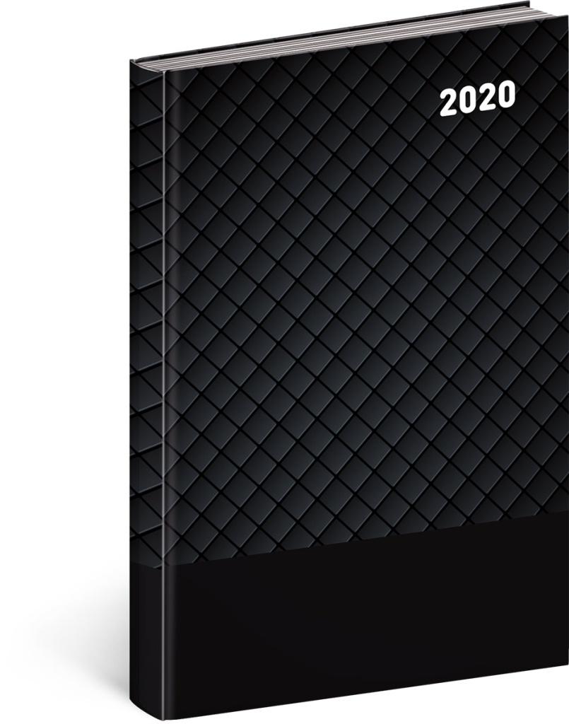 Denní diář Cambio Classic 2020, černý 2019