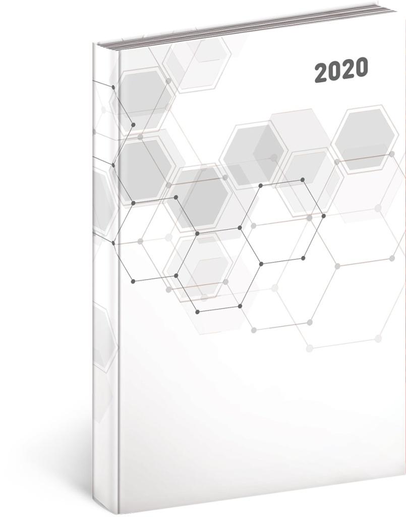 Denní diář Cambio Classic 2020, bílý 2019
