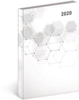 Denní diář Cambio Classic 2020, bílý
