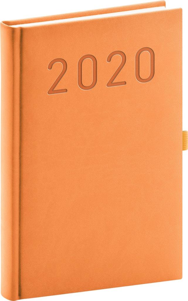 Denní diář Vivella Fun 2020, oranžový 2019