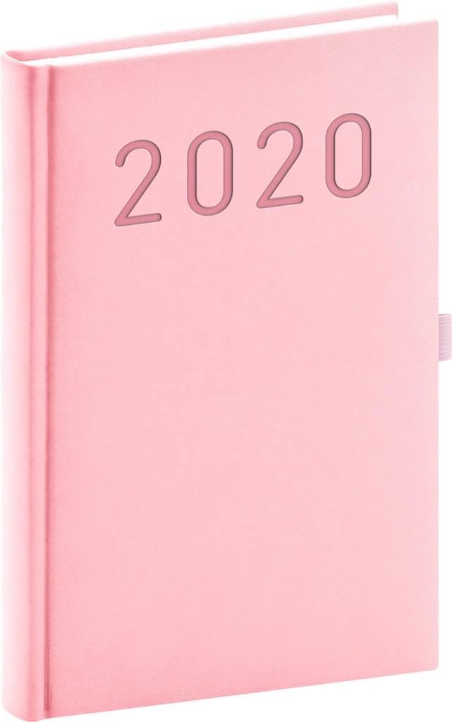 Denní diář Vivella Fun 2020, růžový 2019