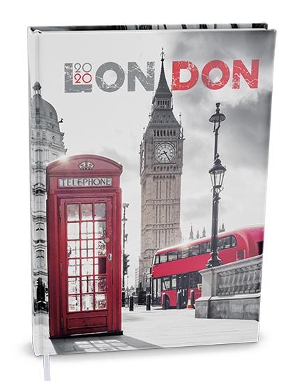 Denní diář - Adam - lamino - B6 - Londýn 2019