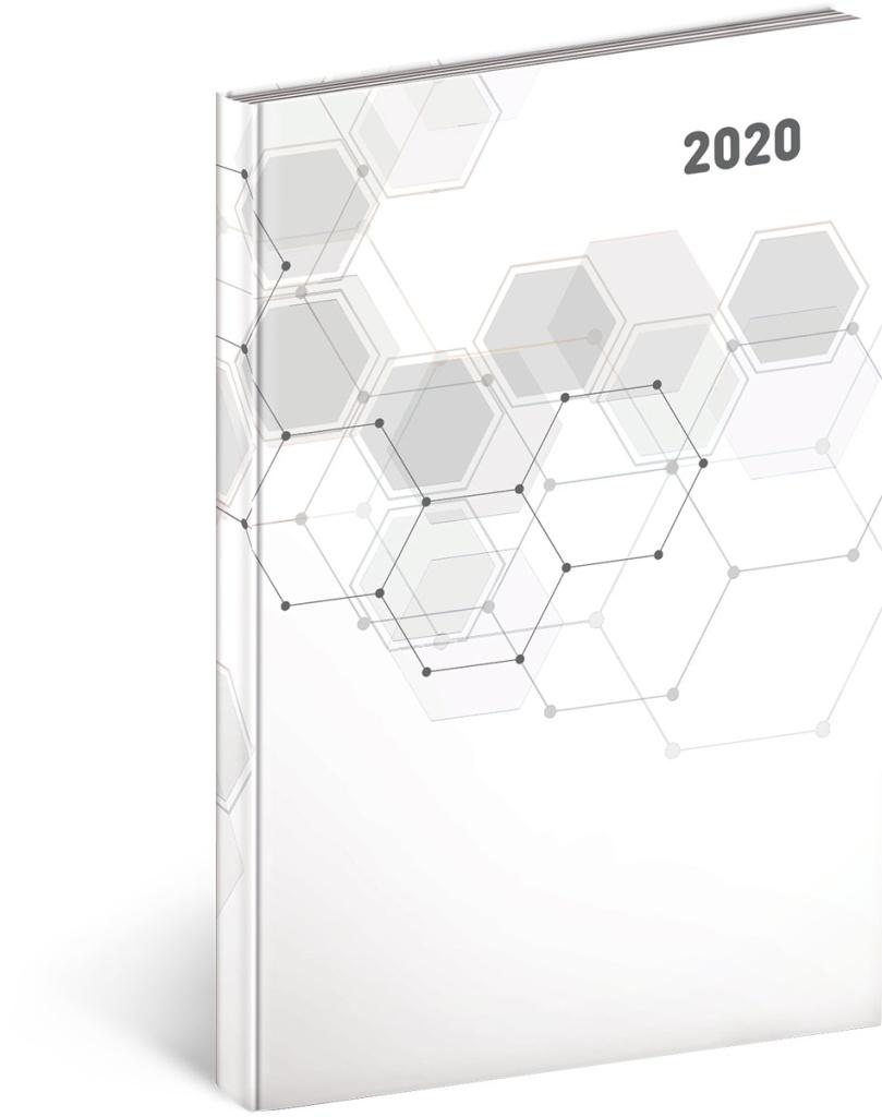 Týdenní diář Cambio Classic 2020, bílý 2019