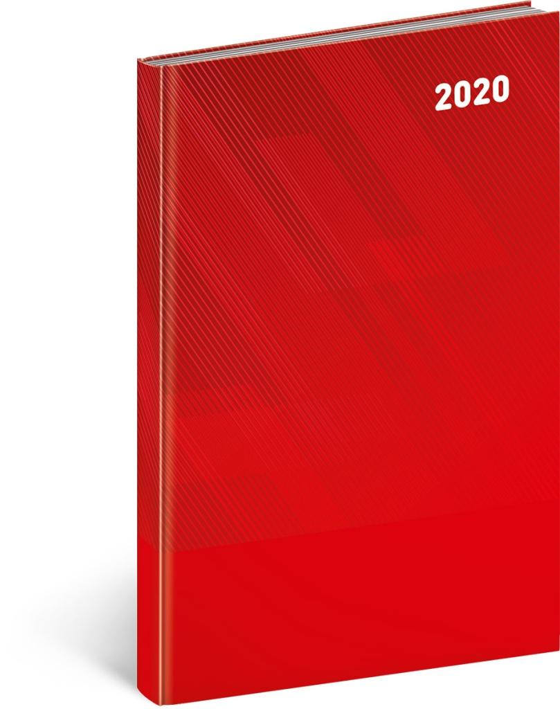 Týdenní diář Cambio Classic 2020, červený 2019