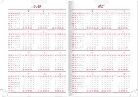 Týdenní diář Nox 2020, černý-červený