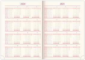 Týdenní diář Twill 2020, šedozlatý