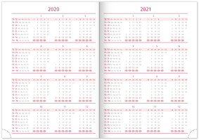 Týdenní diář Vivella Fun 2020, růžový