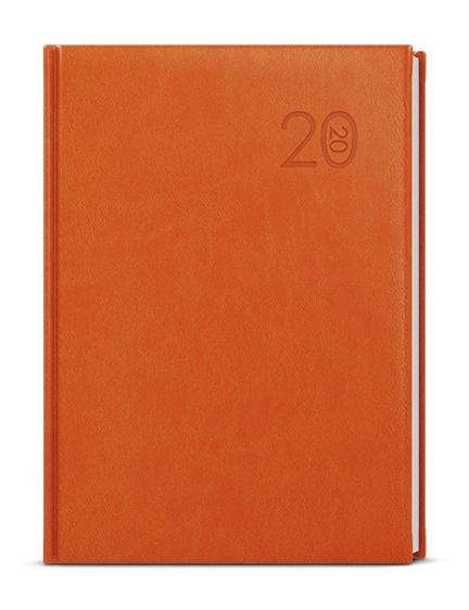 Týdenní diář - Prokop - vivella - B6 - oranžová 2019