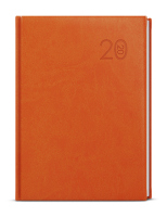 Týdenní diář - Prokop - vivella - B6 - oranžová