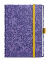 Týdenní diář - Prokop - vivella extra - B6 - fialová - Ornamenty