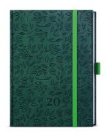 Týdenní diář - Prokop - vivella extra - B6 - zelená - Listy