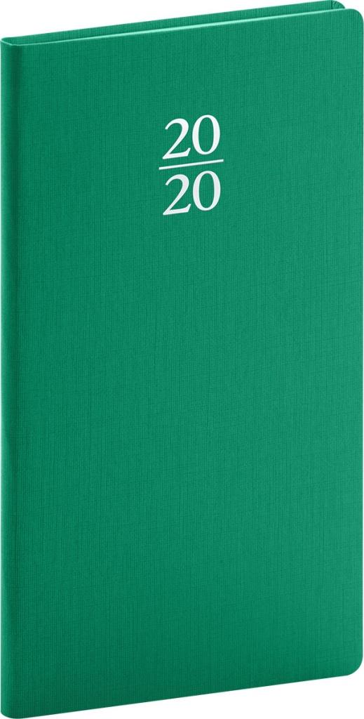 Kapesní diář Capys 2020, zelený 2019