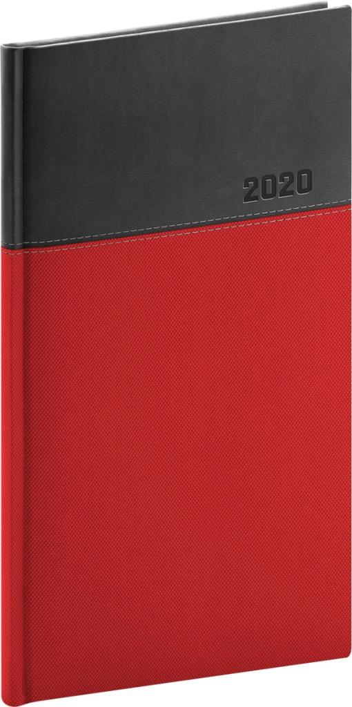 Kapesní diář Dado 2020, červenočerný 2019