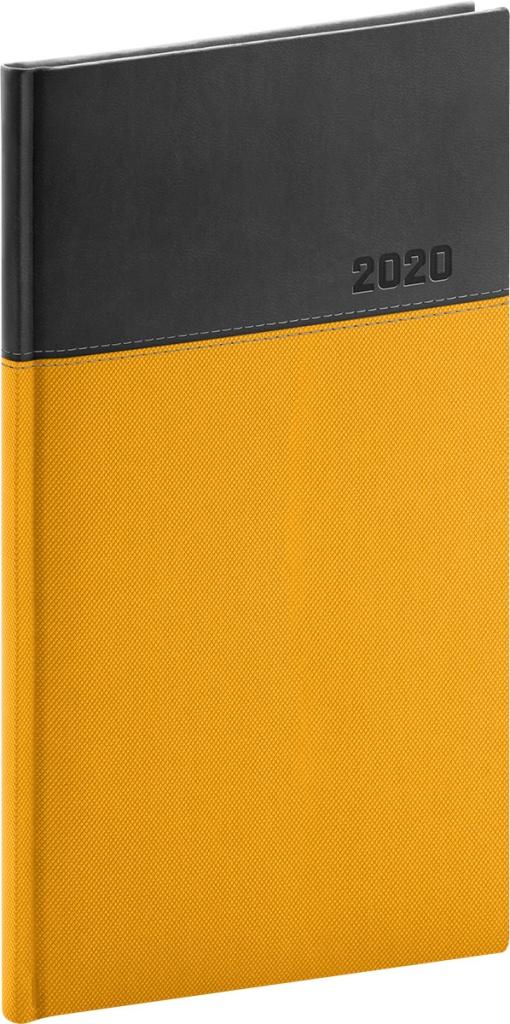 Kapesní diář Dado 2020, žlutočerný 2019