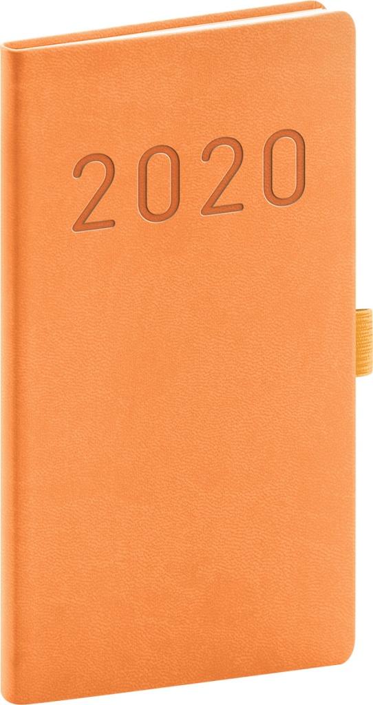 Kapesní diář Vivella Fun 2020, oranžový 2019