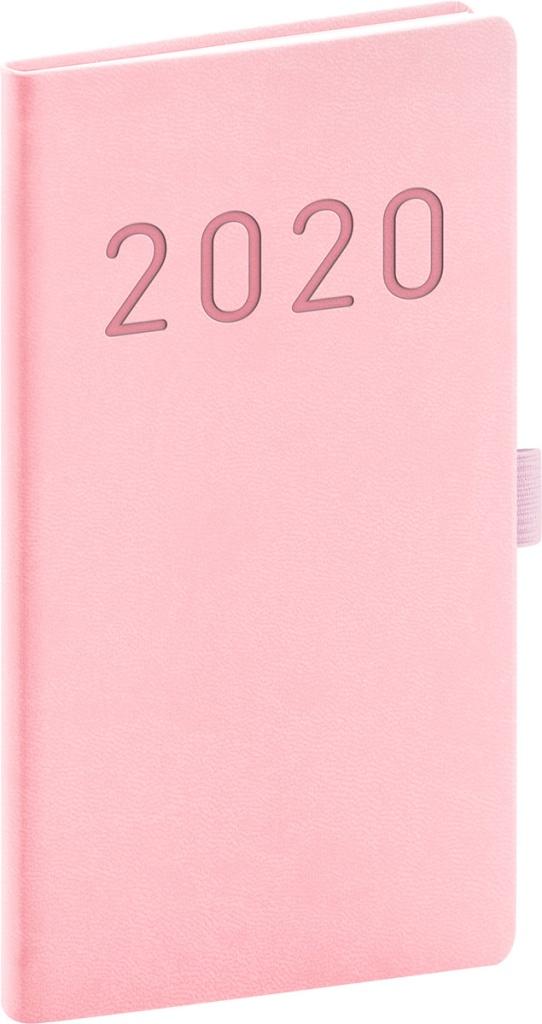 Kapesní diář Vivella Fun 2020, růžový 2019