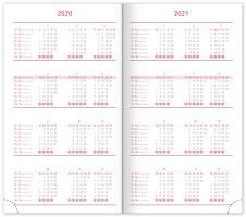 Kapesní diář Vivella Fun 2020, růžový
