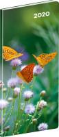 Kapesní diář Motýli 2020, plánovací měsíční
