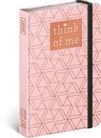 Týdenní diář Geometric - Think of me 2020