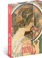 Týdenní magnetický diář Alfons Mucha 2020