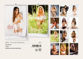 Nástěnný kalendář A3- Glamour girls