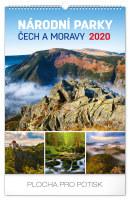 Nástěnný kalendář Národní parky Čech a Moravy 2020