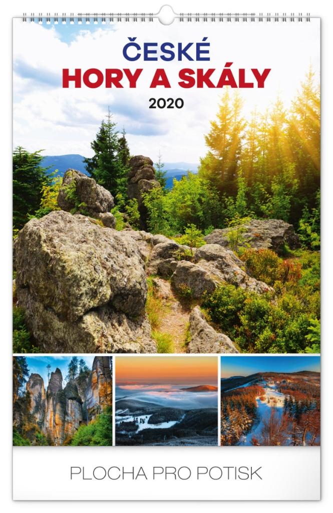 Nástěnný kalendář- Hory 2019