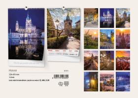 Nástěnný kalendář A3- Metropole