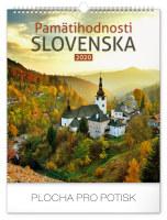 Nástěnný kalendář Pamätihodnosti Slovenska SK 2020