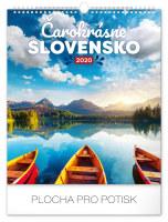 Nástěnný kalendář Čarokrásne Slovensko SK 2020
