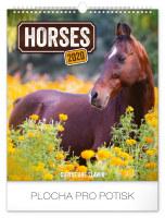 Nástěnný kalendář A3- Koně