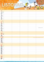 Nástěnný kalendář A3- Art naive- Sylva Prchlíková