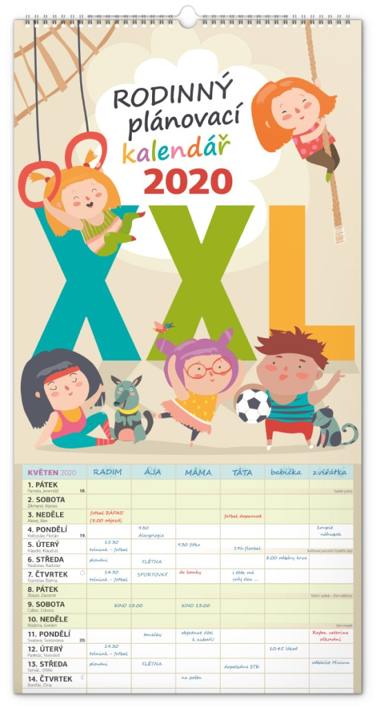 Nástěnný kalendář- Hledá se Dory 2019