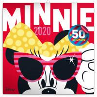 Poznámkový kalendář Minnie 2020, s 50 samolepkami