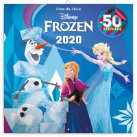 Poznámkový kalendář Frozen - Ledové království 2020, s 50 samolepkami