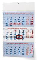Nástěnný kalendář- tříměsíční- černý