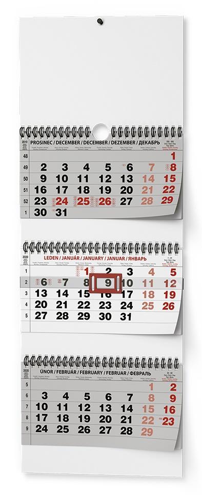 Nástěnný kalendář- tříměsíční- skládaný