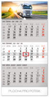 Nástěnný kalendář- tříměsíční- Truck- šedý