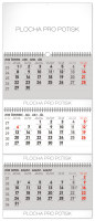 Nástěnný kalendář 3měsíční standard skládací CZ 2020