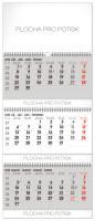 Nástěnný kalendář 3měsíční standard skládací SK 2020