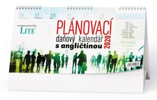 Plánovací daňový kalendář s angličtinou
