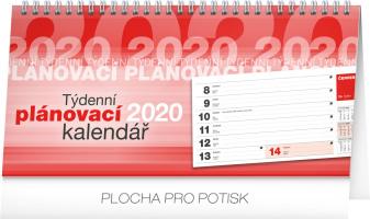 Stolní kalendář Plánovací řádkový 2020