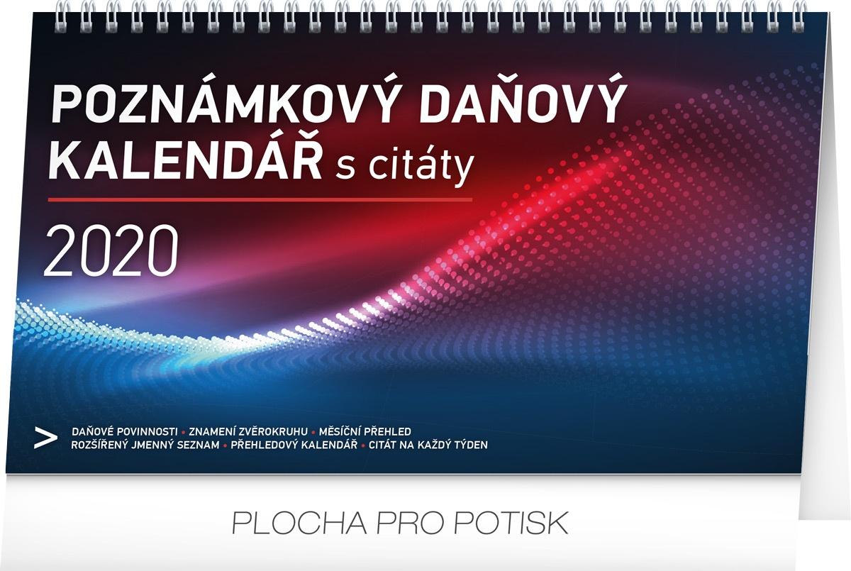Stolní kalendář Poznámkový daňový s citáty 2020 2019
