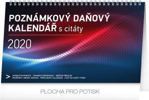Stolní kalendář Poznámkový daňový s citáty 2020