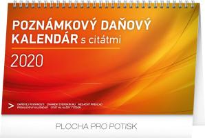 Stolní kalendář Poznámkový daňový s citáty SK 2020