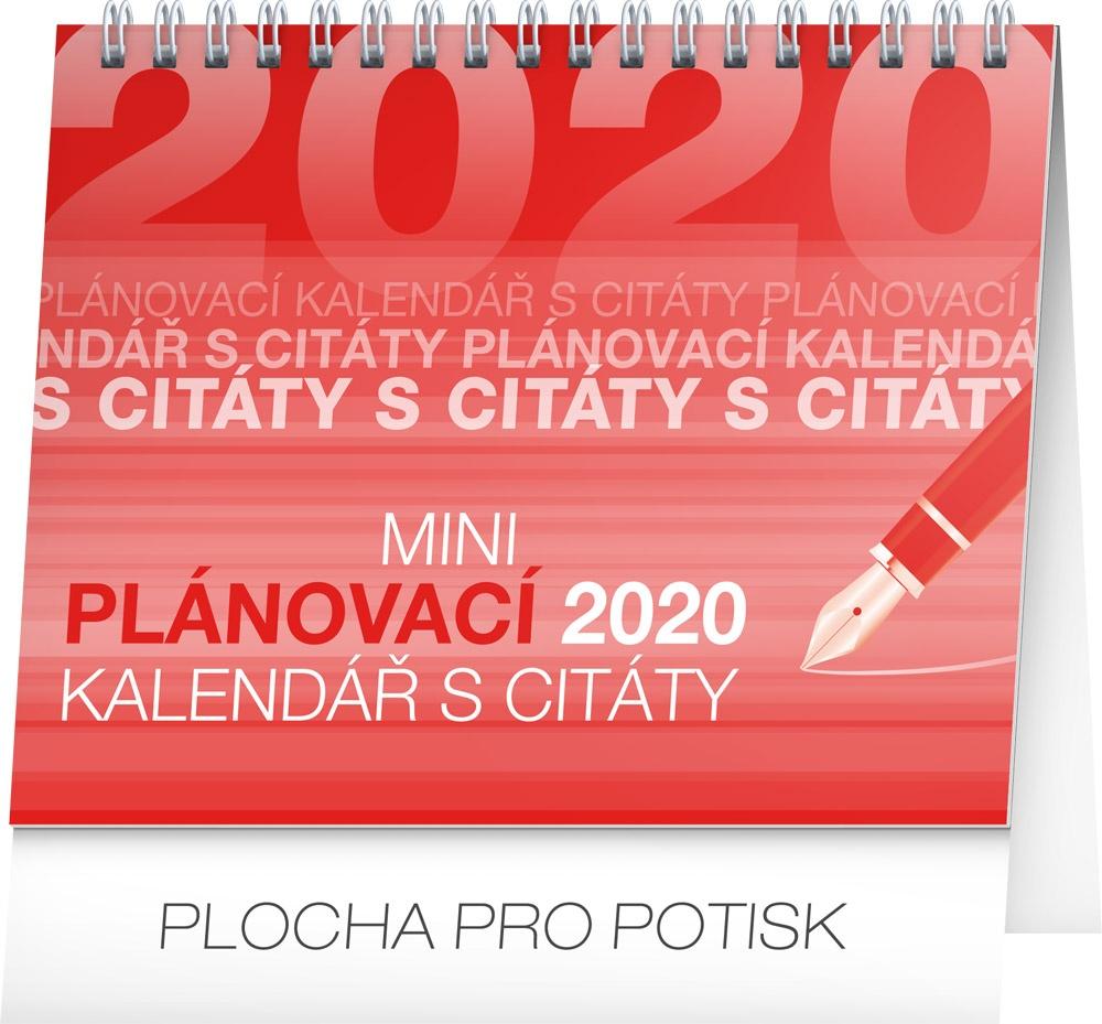 Stolní kalendář Plánovací s citáty 2020 2019