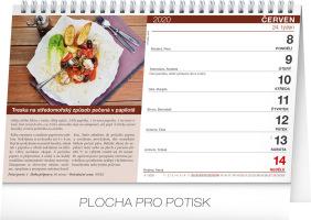 Stolní kalendář Kuchařka (ne)jen pro muže 2020