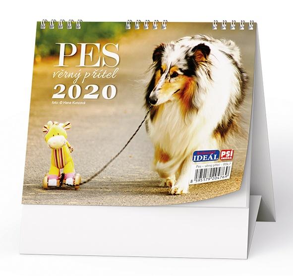 Stolní kalendář- Pes- věrný přítel 2019